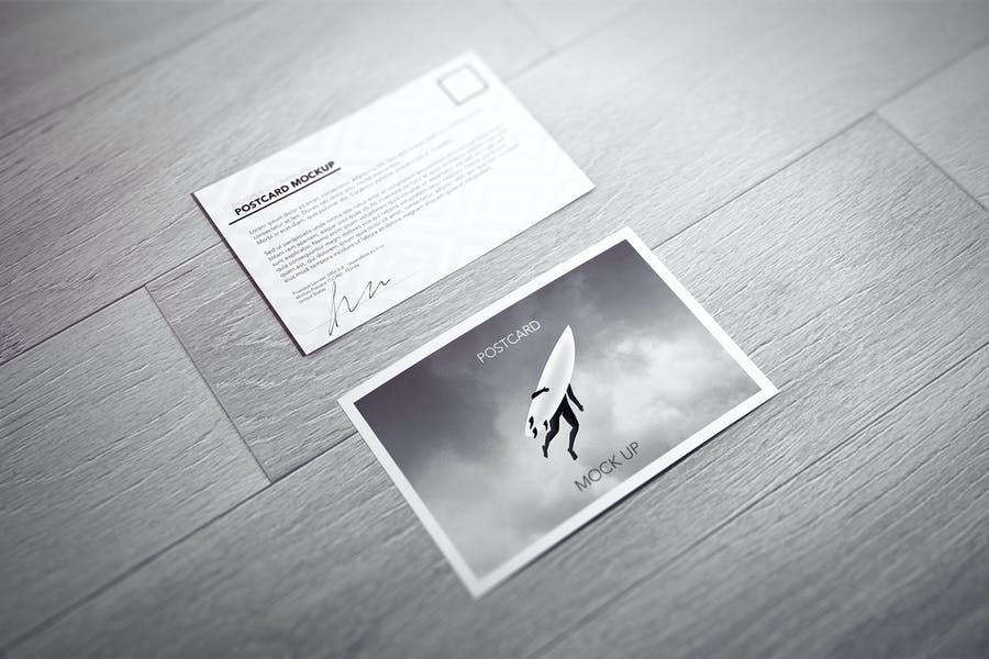 Postcard Invitation Mockup PSD