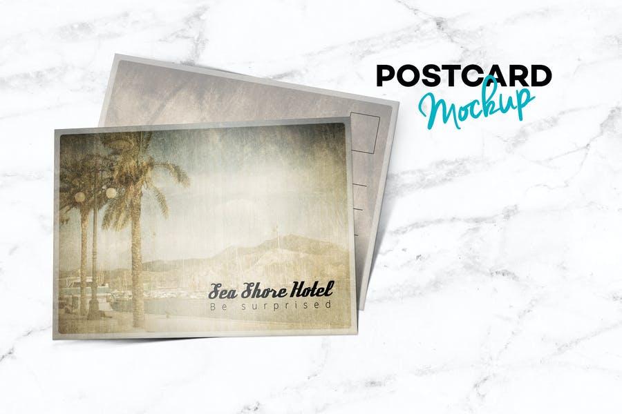 Postcard Landscape Mockup PSD