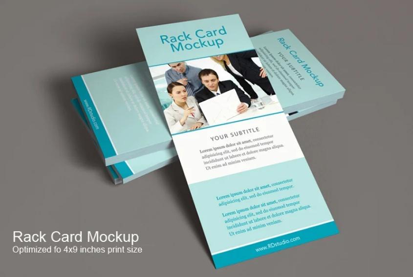 Printable Rack Card Mockups