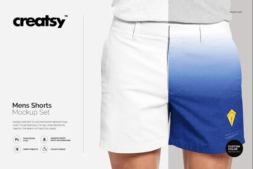 Printable Shorts Apparel Mockup