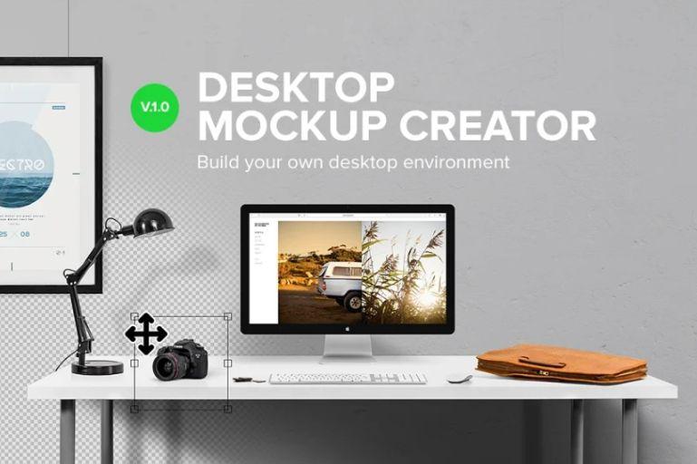 Professional Desktop Mockup Scene