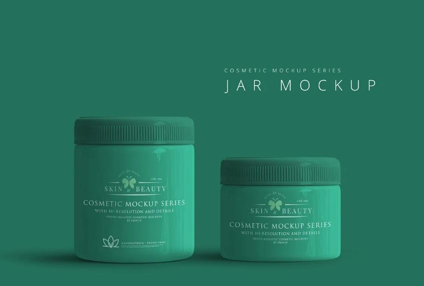 Professional Plastic jar Branding Mockups