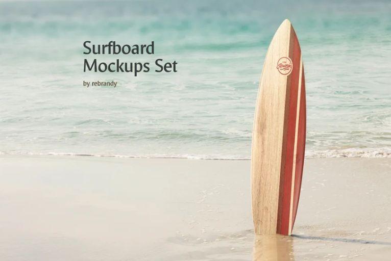 Professional Surfboard Mockups