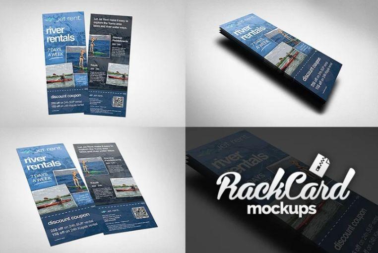 Rack Card Mockup Set
