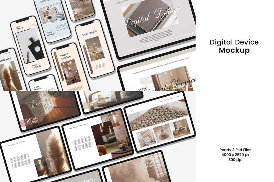 Realistic Digital Device Mockups