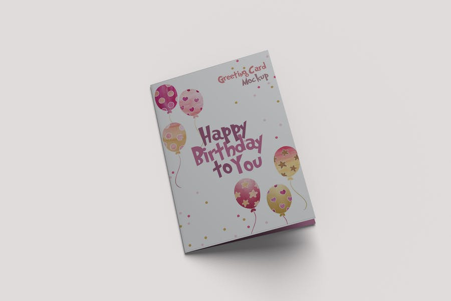 Realistic Greeting Card Mockups