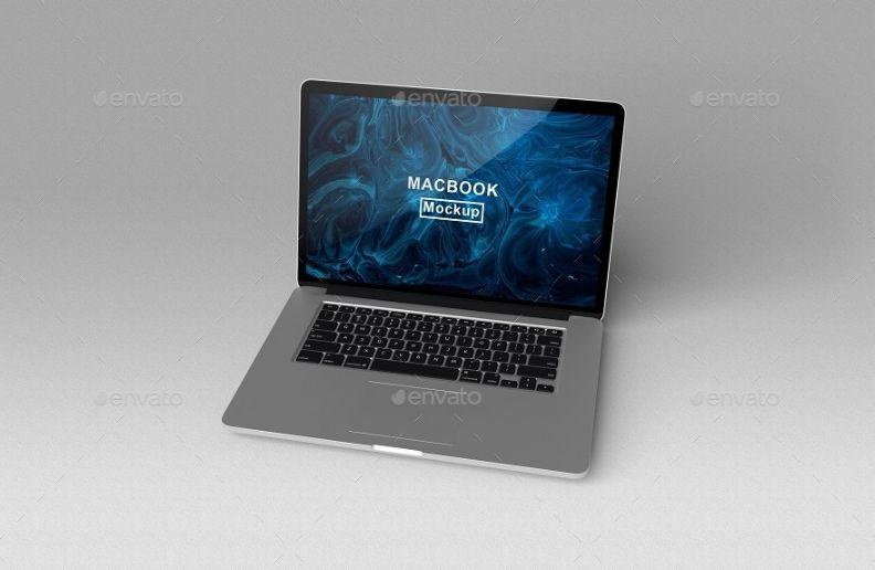 Realistic MacBook Screen Mockups