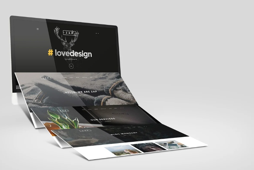 Realistic Website Mockups