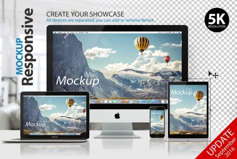 Responsive Device Mockup PSD