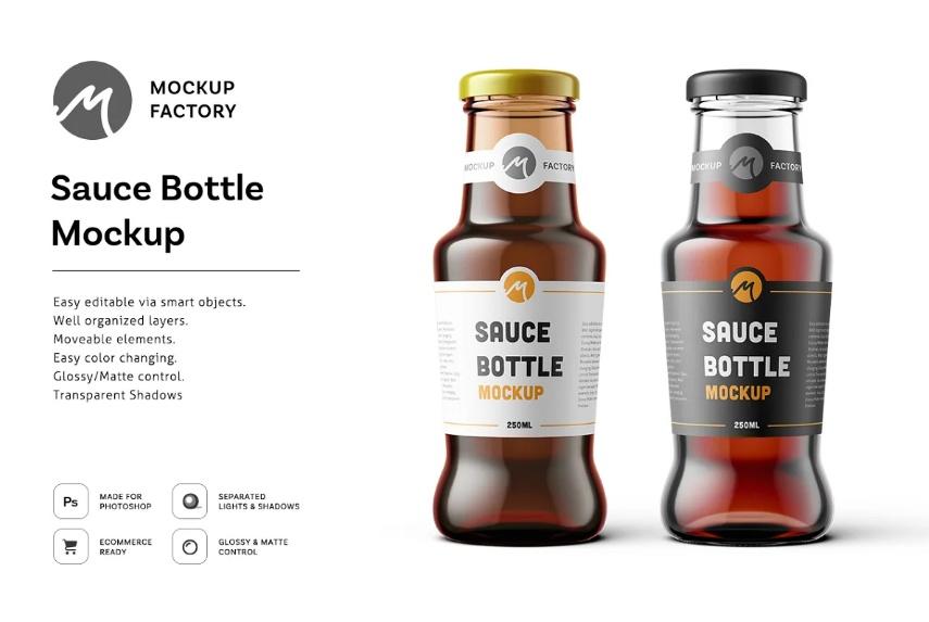 Sauce Bottle Label Mockup