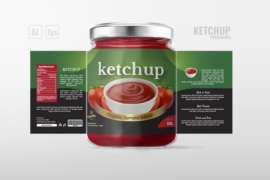 Sauce packaging Mockups