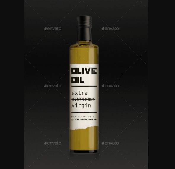 Simple Olive Oil Branding Mockups
