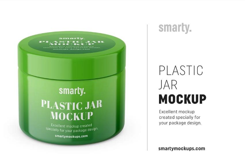 Simple Plastic Jar Branding mockup