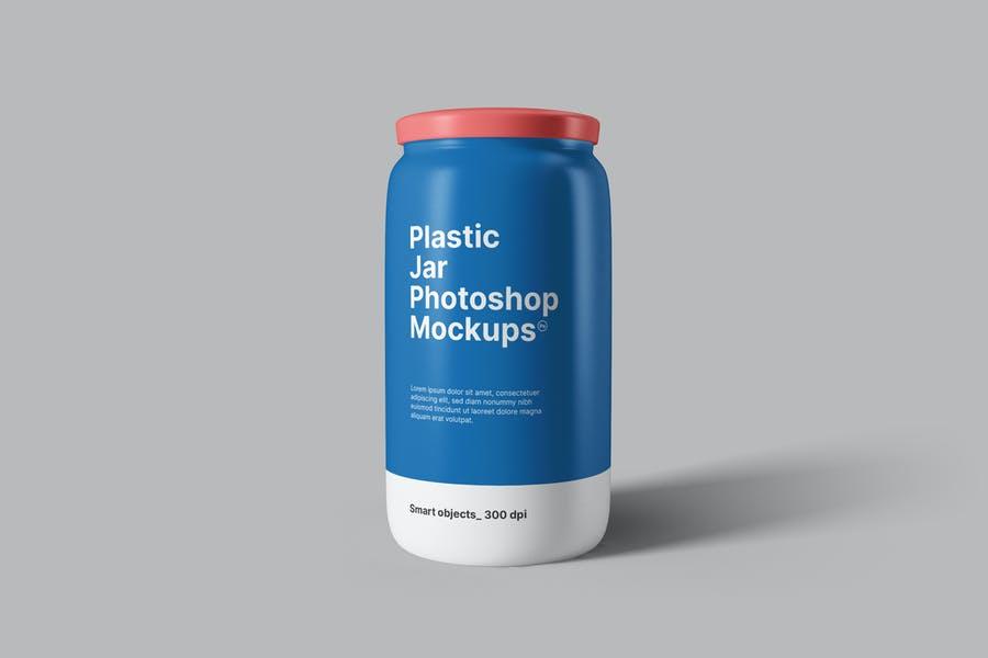 Simple Plastic Jar Mockups