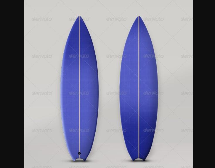 Surfboard Design Mockup PSD