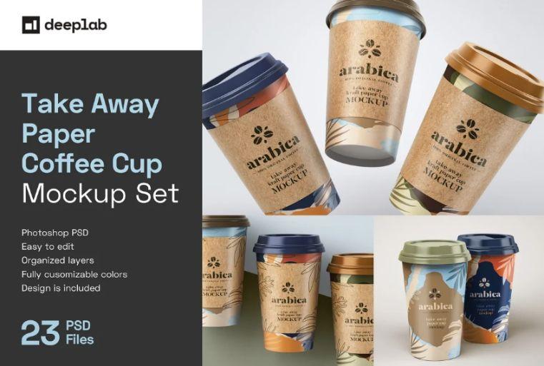Takeaway Paper Cup Mockups