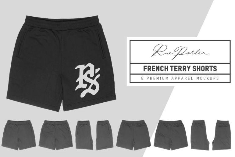 Terry Shorts Apparel Mockups