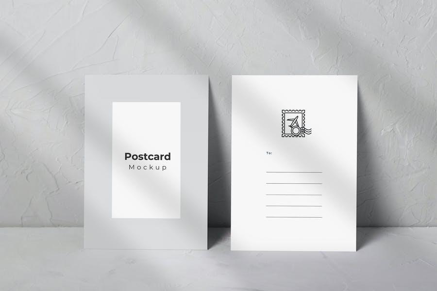 Vertical Postcard Mockups PSD