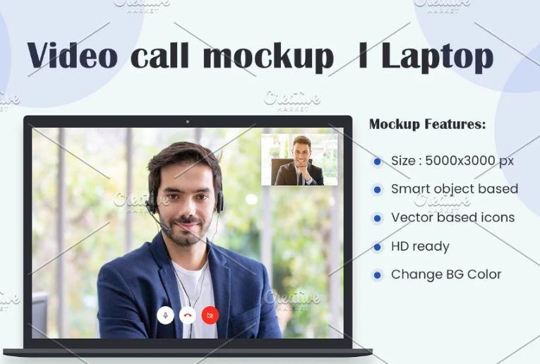 Video Call Mockups PSD