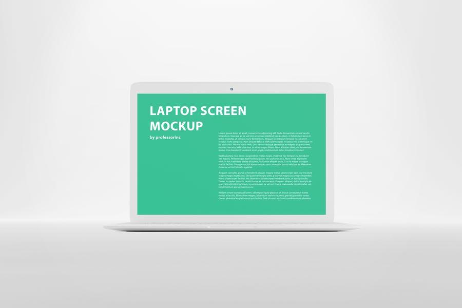 White laptop Screen Mockups