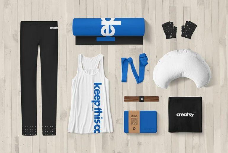 Yoga Identity Mockup PSD