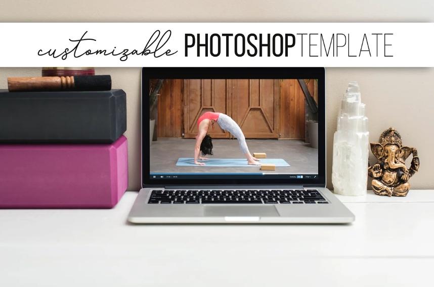 Yoga Instructor Branding Mockup