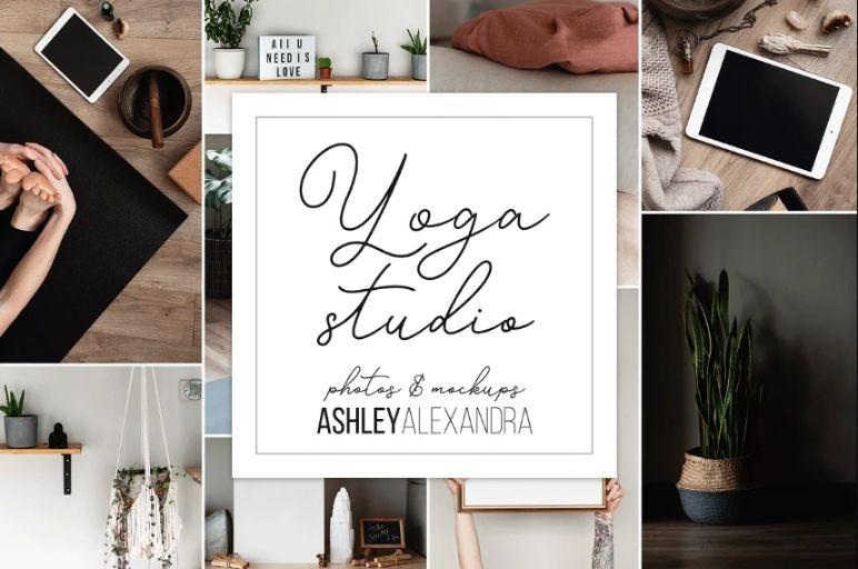 Yoga Studio Branding Mockup