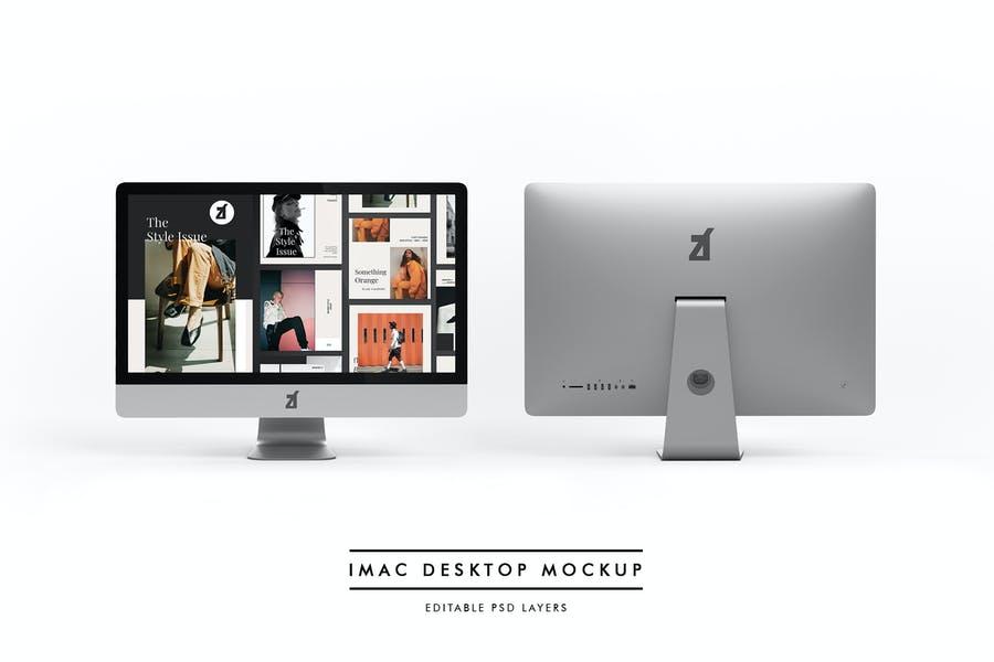 iMac Desktop Mockup PSD