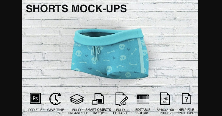 women Shorts Mockup