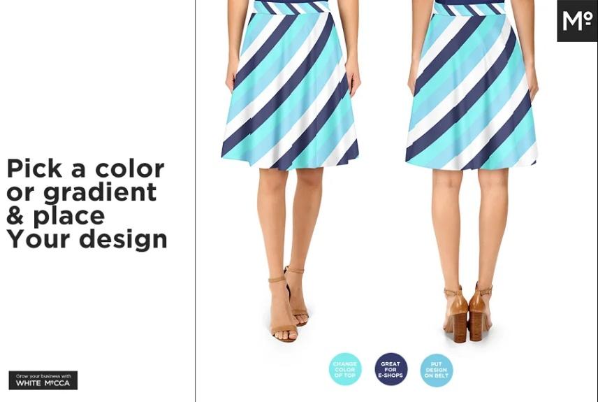 10 Women Skirts Mockup Set