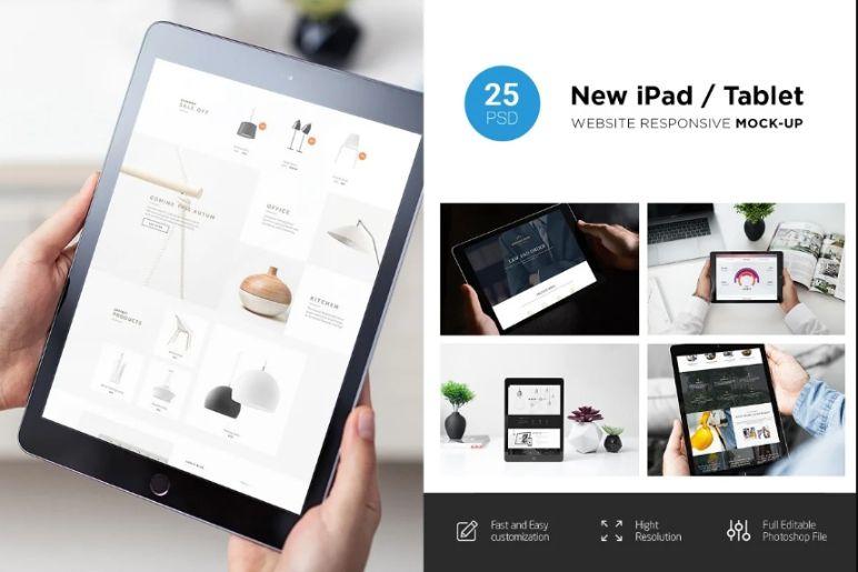 25 Website Presentation Mockups