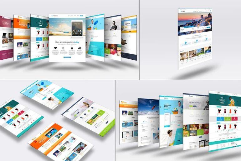 3D Website Design Mockup