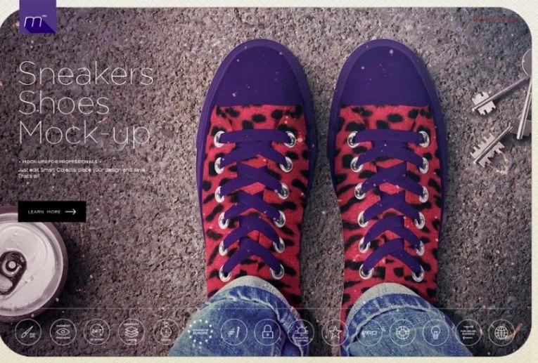5 Shoes mockup psd