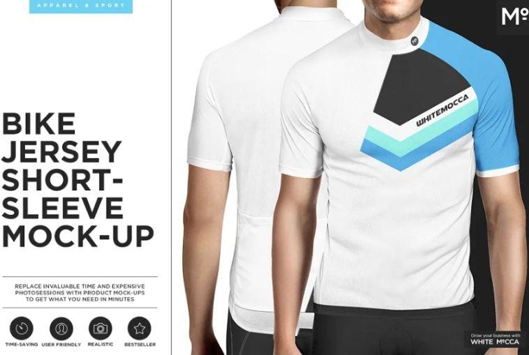 Bike Jersey Short Sleeve Mockups