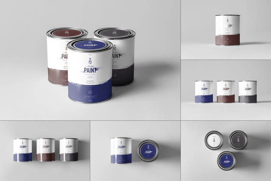 Can of Paint Can Mockup PSD