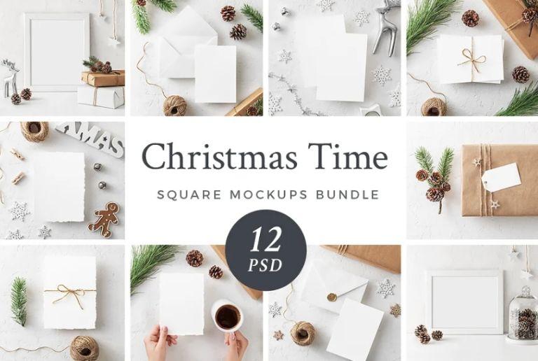 Christmas Invitation Mockup Bundle