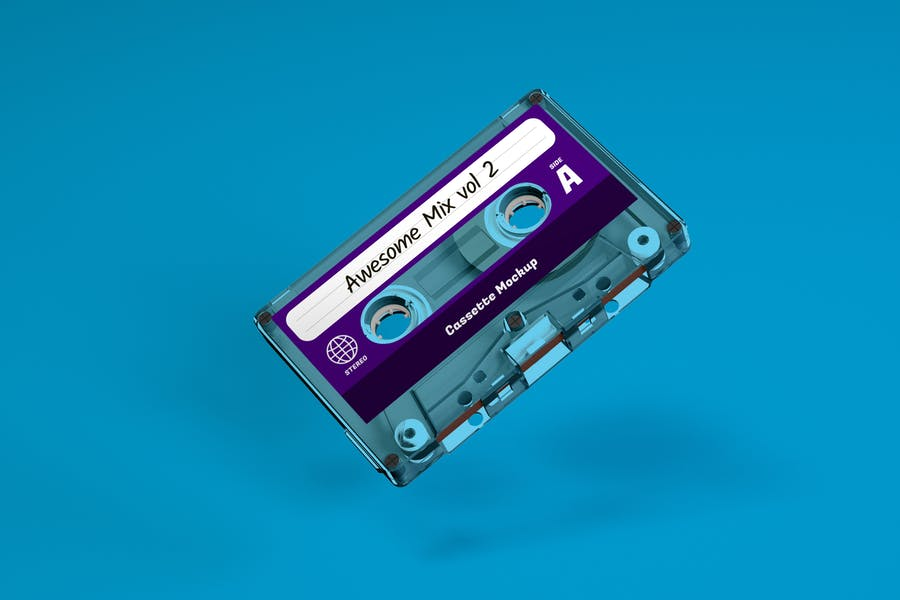Clear Cassette Case Mockup