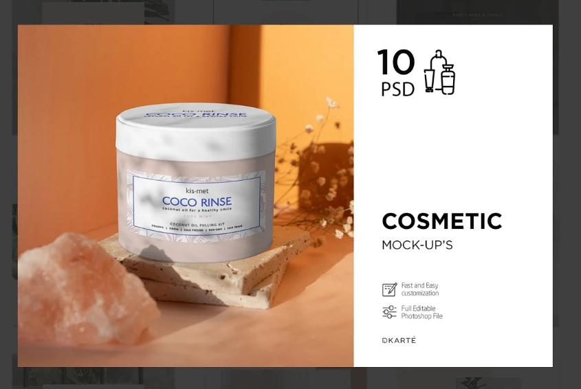 Cosmetic Cream Branding Mockups