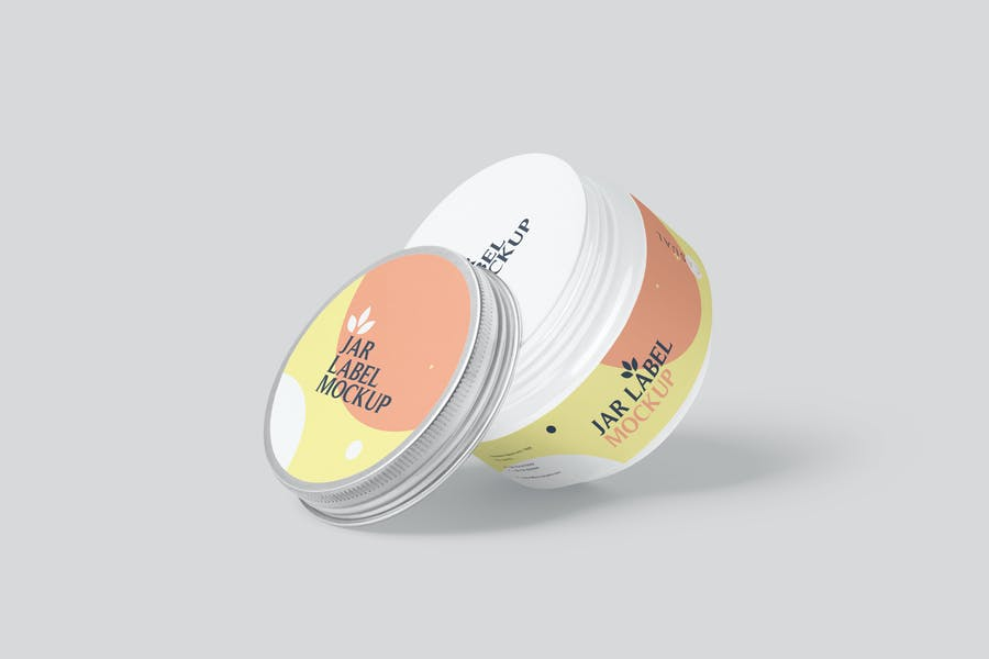 Cosmetics Jar Label Mockup