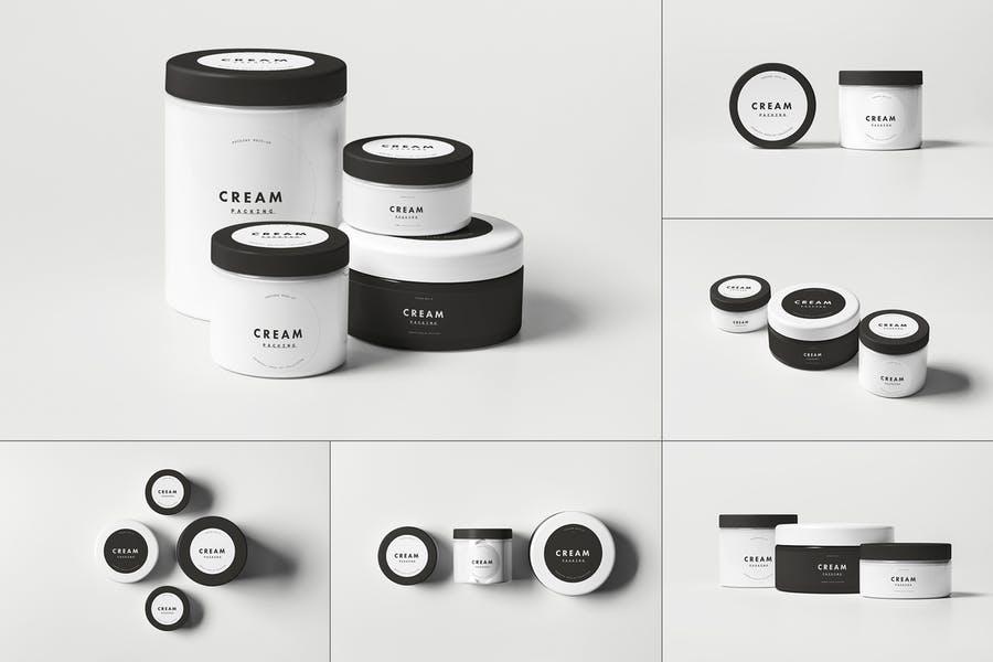 Cosmetics Jar Mockup Set