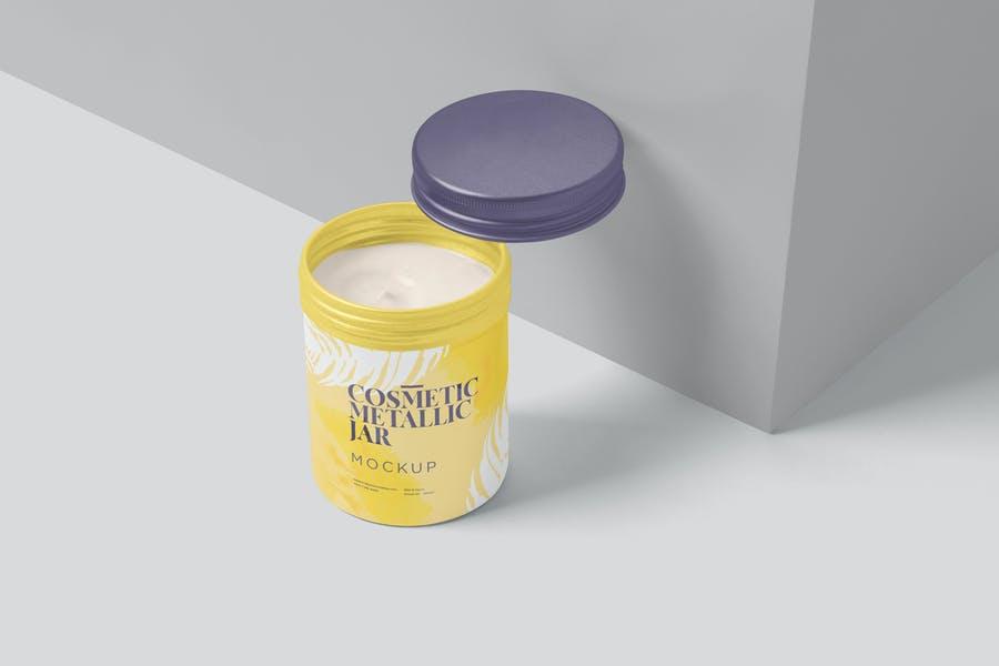 Cream Jar Packaging Mockup PSD