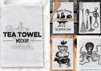 tea towel mockup