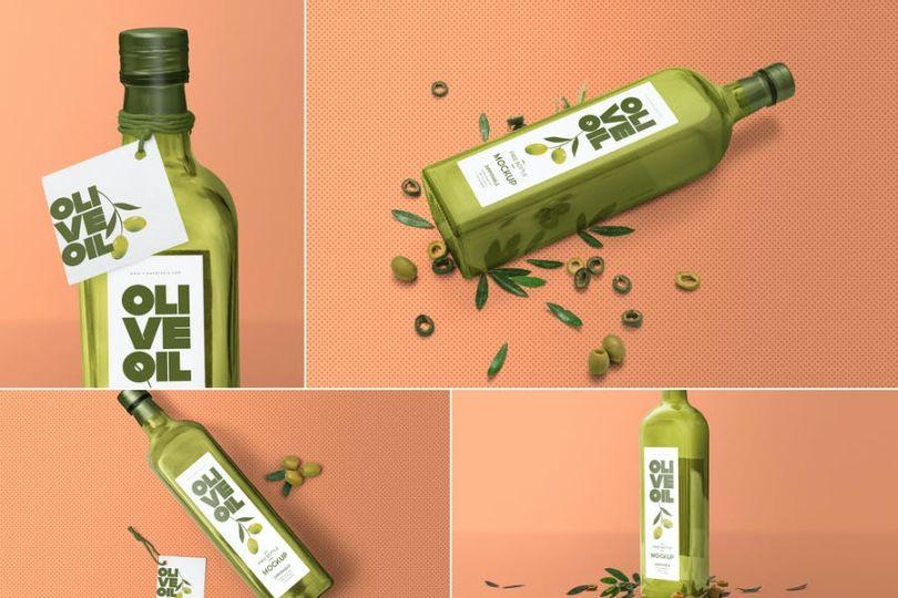 Customizable Glass Bottle Mockups