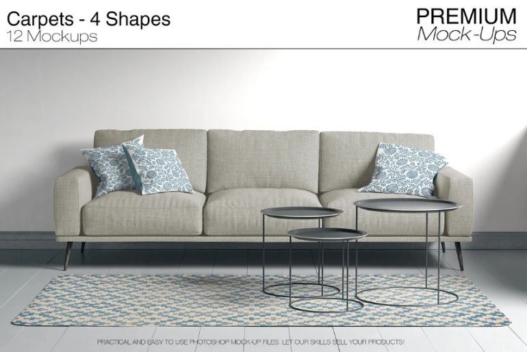 Customizable Living Room Mockups