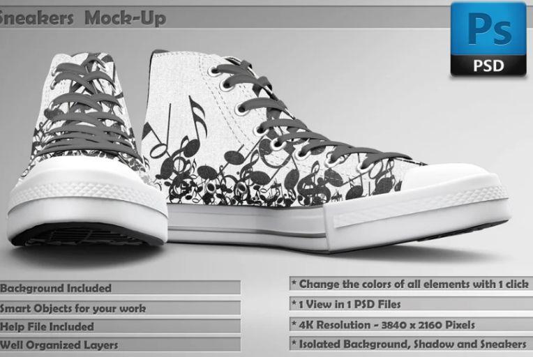 Customizable Shoe Mockup PSD