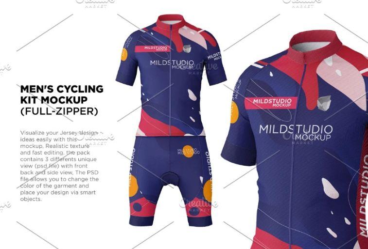 Cycling Jersey Mockup Kit