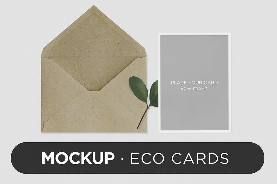 Eco Card Invite Mockup PSD