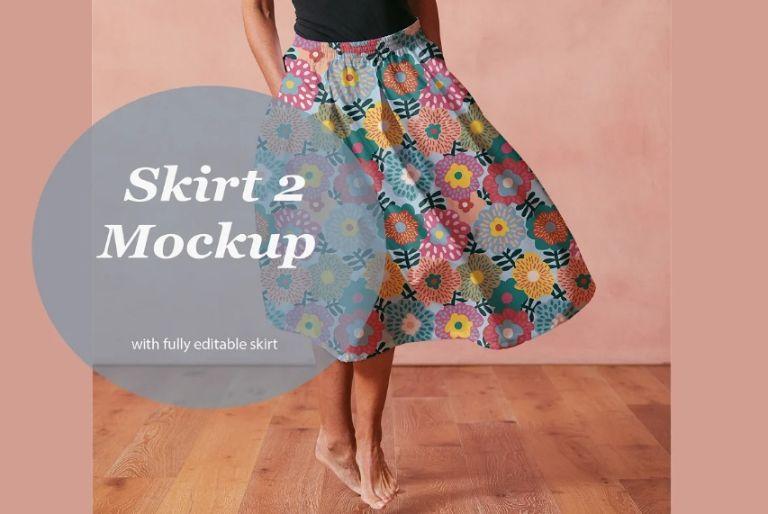 Editable Skirt Mockup PSD
