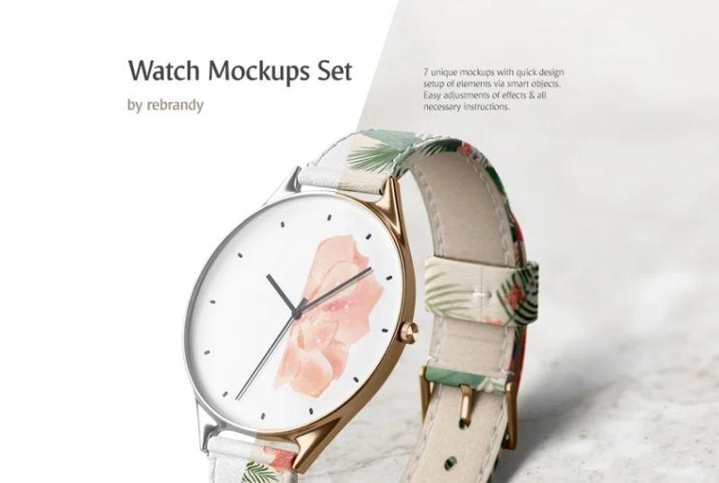 Elegant Wristwatch Mockups Set
