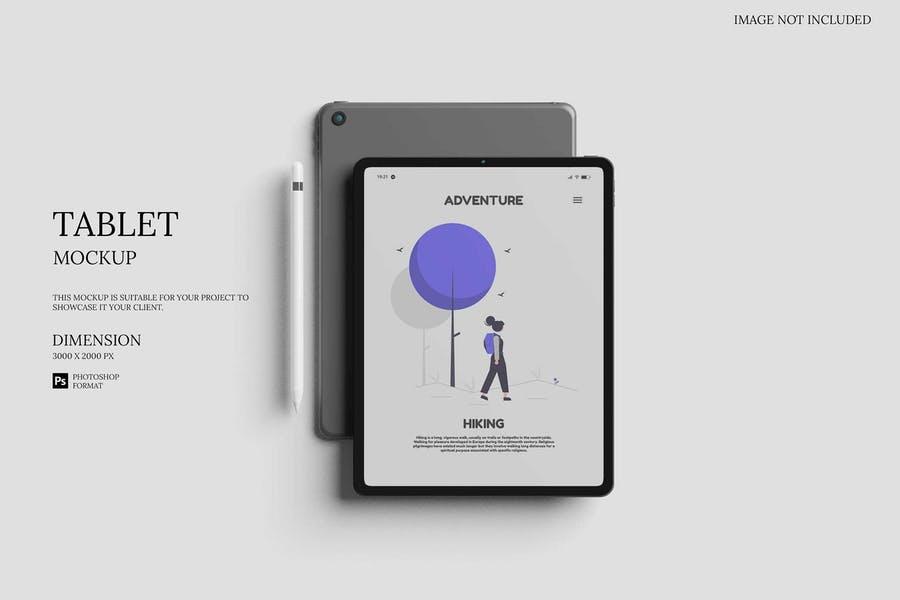 Elegant iPad Screen Mockup